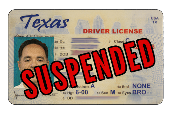texas drivers license suspended in another state